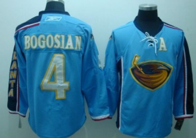 Atlanta Thrashers #4 Bogosian Light Blue Jersey