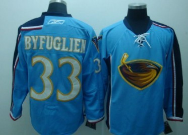 Atlanta Thrashers #33 Byfuglien Light Blue Jersey