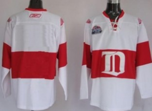 Detroit Red Wings Youths Customized White Winter Classic Jersey