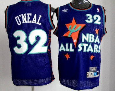 NBA 1995-1996 All-Star #32 Shaquille Oneal Purple Swingman Throwback Jersey