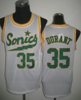 Seattle Supersonics #35 Kevin Durant 2003-04 White Swingman Jersey