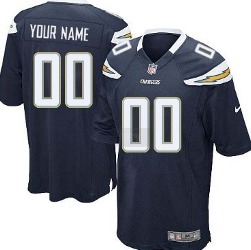 Kids Nike San Diego Chargers Customized Navy Blue Game Jersey