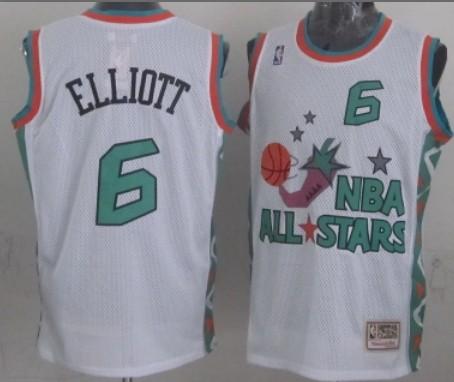 NBA 1996 All-Star #6 Sean Elliott White Swingman Throw