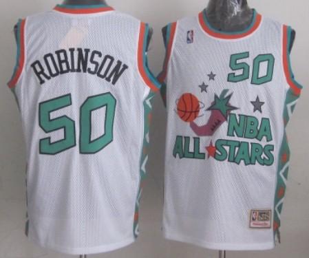 NBA 1996 All-Star #50 David Robinson White Swingman Th
