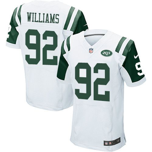 Nike Jets #92 Leonard Williams White Men's Stitched NFL Elite Jersey