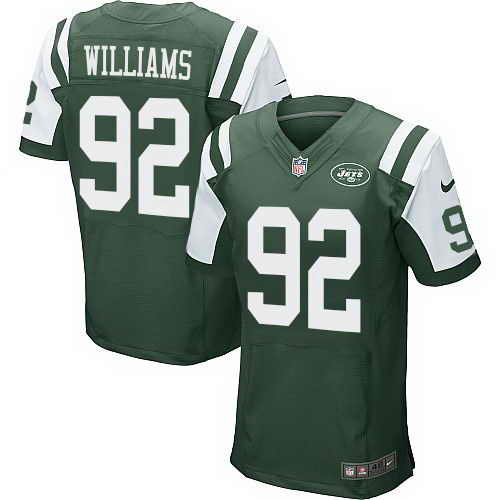 Nike Jets #92 Leonard Williams Green Team Color Men's Stitched NFL Elite Jersey