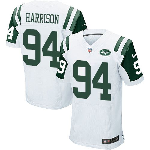 Nike Jets #94 Damon Harrison White Men's Stitched NFL Elite Jersey