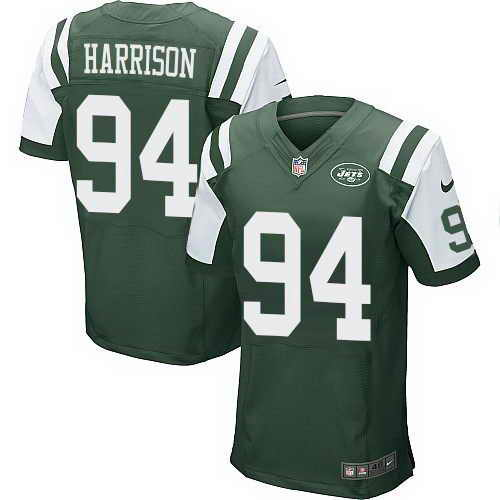 Nike Jets #94 Damon Harrison Green Team Color Men's Stitched NFL Elite Jersey