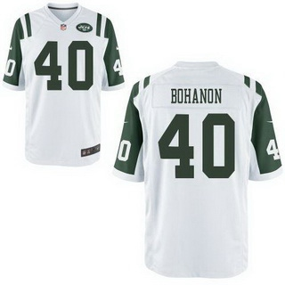 Men's New York Jets #40 Tommy Bohanon White Road NFL Nike Elite Jersey