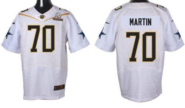Men's Dallas Cowboys #70 Zack Martin White 2016 Pro Bowl Nike Elite Jersey