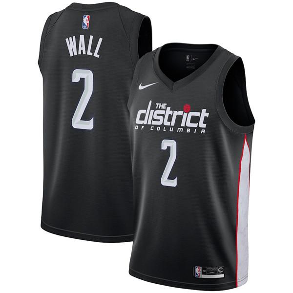 Nike Washington Wizards #2 John Wall Jersey 2018-19 New Season City Edition Jersey