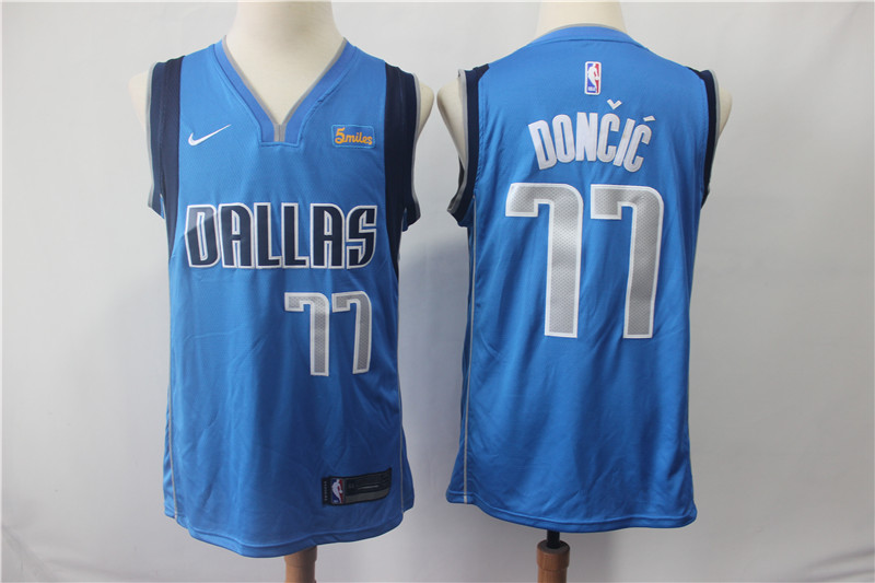 Mavericks #77 Luka Doncic Royal Nike Swingman Jersey
