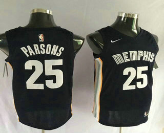 Nike Memphis Grizzlies #25 Chandler Parsons New Navy Blue 2017-2018 Men's Swingman Stitched NBA Jersey