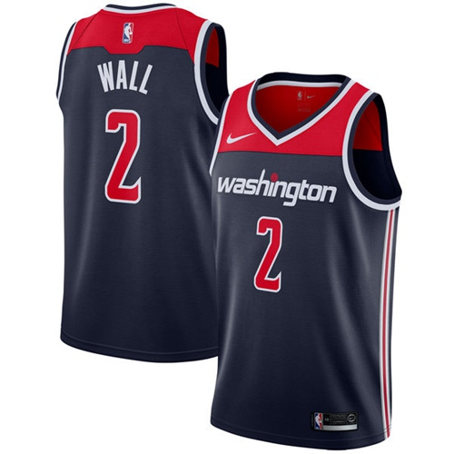 Nike Washington Wizards #2 John Wall Navy Blue Men's NBA Swingman Statement Edition Jersey