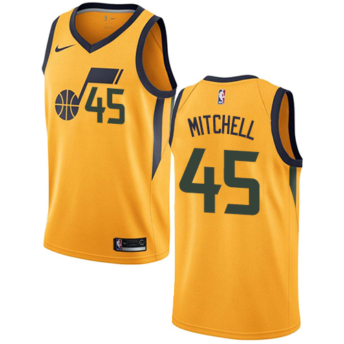 Nike Utah Jazz #45 Donovan Mitchell Yellow Men's NBA Swingman Statement Edition Jersey