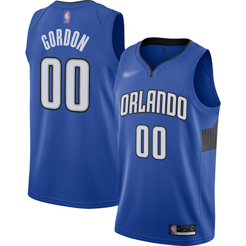 Magic #00 Aaron Gordon Blue Basketball Swingman Statement Edition 2019-2020 Jersey