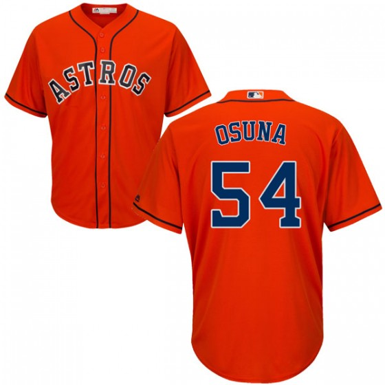 Men's Houston Astros Roberto Osuna Majestic Cool Base Alternate Orange Jersey