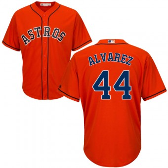 Men's Houston Astros #44 Yordan Alvarez Majestic Cool Base Alternate Orange Jersey