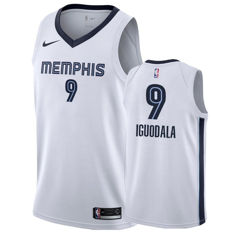 Nike Grizzlies #9 Andre Iguodala White Association Edition Men's NBA Jersey