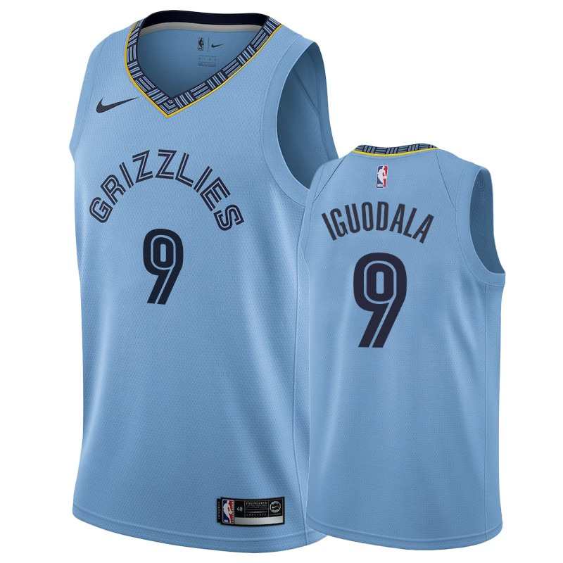 Nike Grizzlies #9 Andre Iguodala Blue Statement Edition Men's NBA Jersey