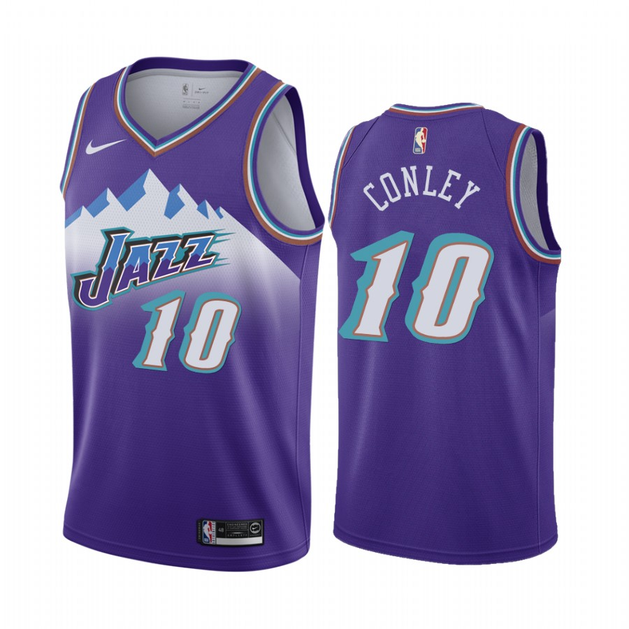 Nike Jazz #10 Mike Conley Jr. Purple 2019-20 Hardwood Classic Edition Stitched NBA Jersey