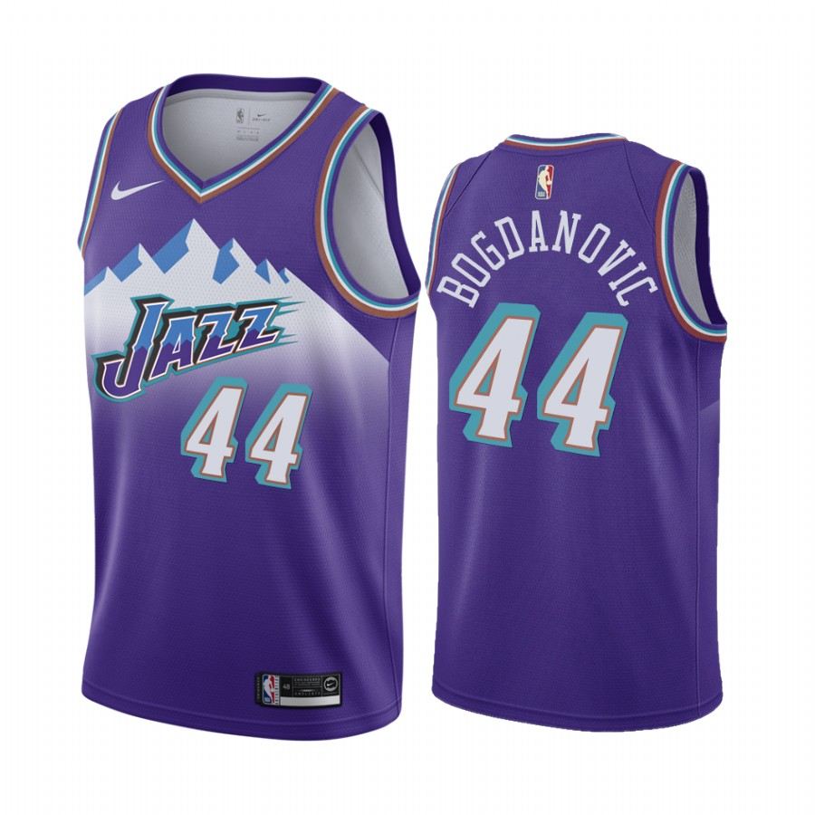 Nike Jazz #44 Bojan Bogdanovic Purple 2019-20 Hardwood Classic Edition Stitched NBA Jersey