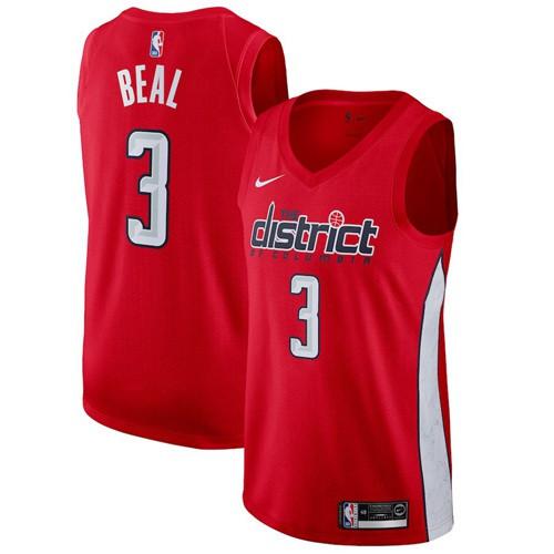 Nike Wizards #3 Bradley Beal Red NBA Swingman Earned Edition Jersey
