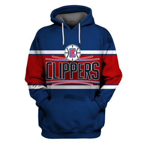 Clippers Blue All Stitched Hooded Sweatshirt