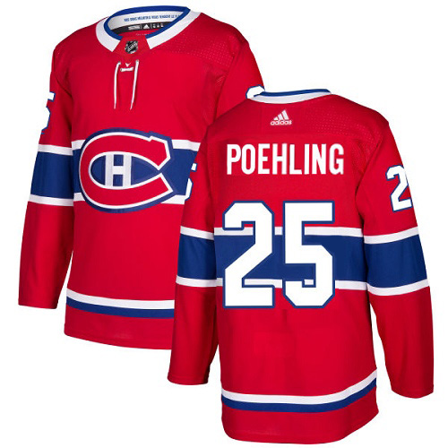 Adidas Canadiens #25 Ryan Poehling Red Home Authentic Stitched NHL Jersey