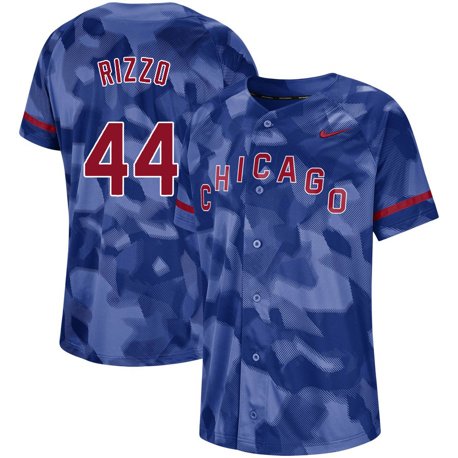 Cubs 44 Anthony Rizzo Royal Camo Fashion Jersey