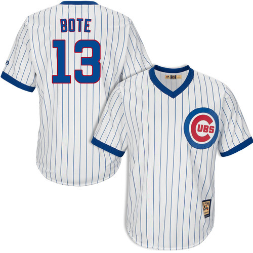 David Bote Chicago Cubs 1968-69 Cooperstown With Patch Jersey by Majestic