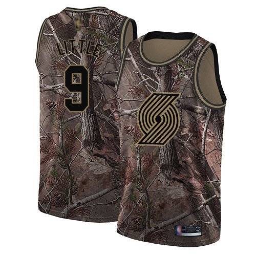 Blazers #9 Nassir Little Camo Basketball Swingman Realtree Collection Jersey
