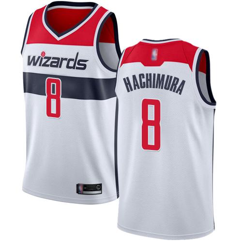 Wizards #8 Rui Hachimura White Basketball Swingman