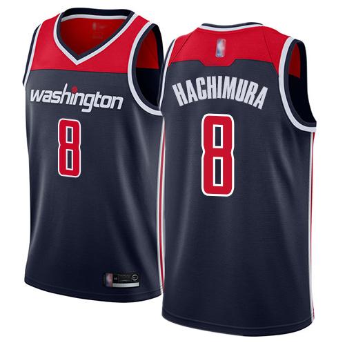 Wizards #8 Rui Hachimura Navy Blue Basketball Swingman