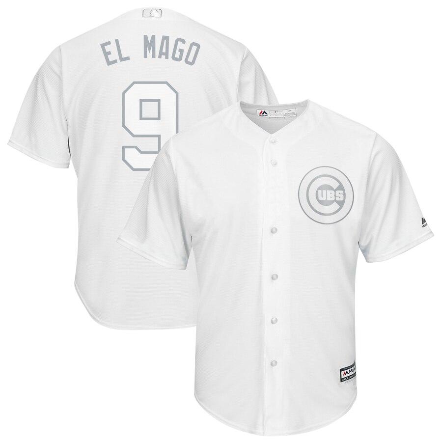 Cubs 9 Javier Baez El Mago White 2019 Players' Weekend Player Jersey