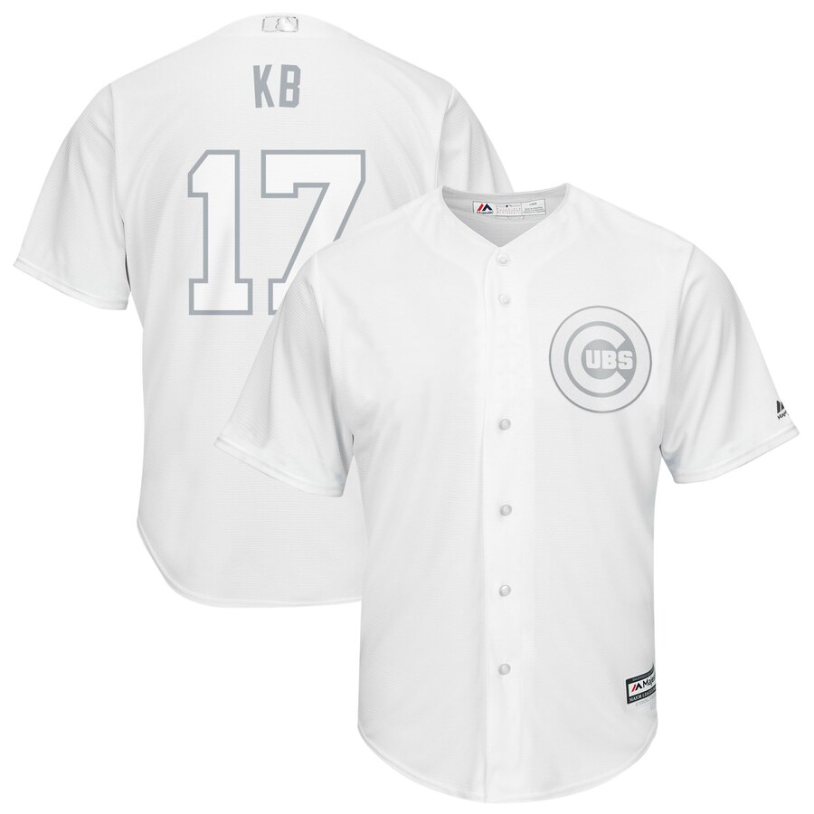 Cubs 17 Kris Bryant KB White 2019 Players' Weekend Player Jersey