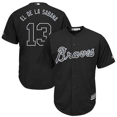 Braves #13 Ronald Acuna Jr. Black El de la Sabana Players Weekend Cool