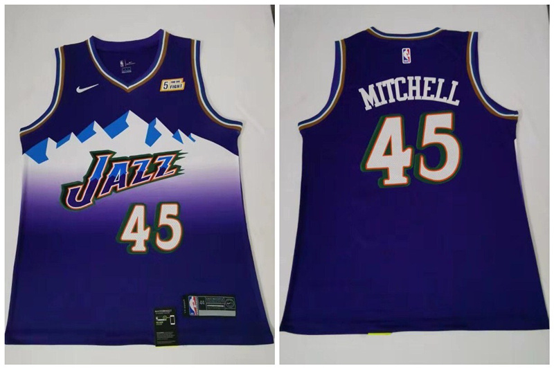 Jazz #45 Donovan Mitchell Purple Nike Swingman Jersey