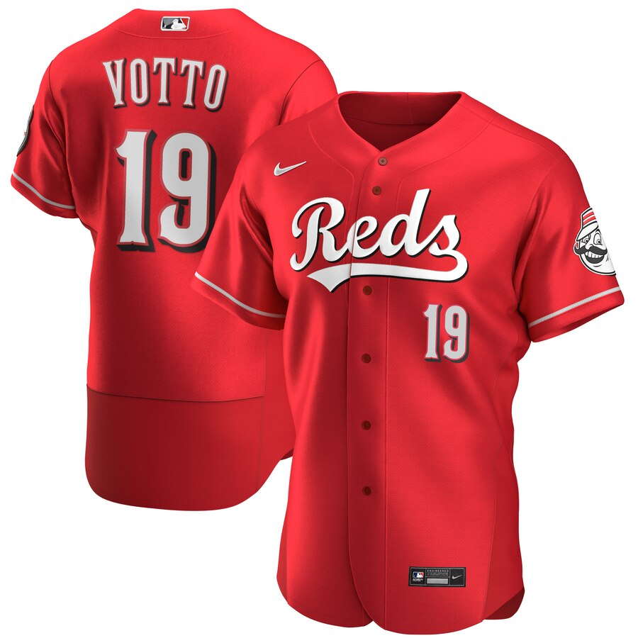 Reds #19 Joey Votto Red Nike 2020 Flexbase Jersey